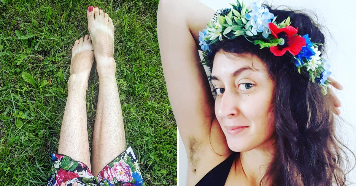 Woman ditches shaving and waxing to embrace her natural body hair