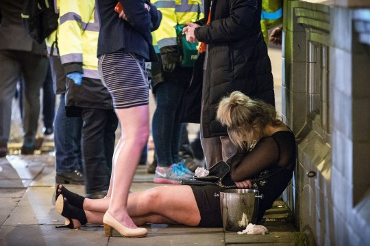 Mandatory Credit: Photo by Joel Goodman/LNP/REX/Shutterstock (5498737f) Revellers in Manchester enjoy 'Mad Friday' - also known as 'Black Eye Friday' Mad Friday, Manchester, Britain - 18 Dec 2015 Revellers in Manchester enjoy 'Mad Friday' - also known as 'Black Eye Friday' - the day on which emergency services in Britain are typically at their busiest, as people head out for parties and drinks to celebrate Christmas