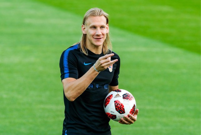 MOSCOW, RUSSIA - JULY 13, 2018: Domagoj Vida of the Croatian men's national football team during a training session ahead of the 2018 FIFA World Cup final match against France, at Luzhniki Stadium. Mikhail Japaridze/TASS (Photo by Mikhail Japaridze\TASS via Getty Images)