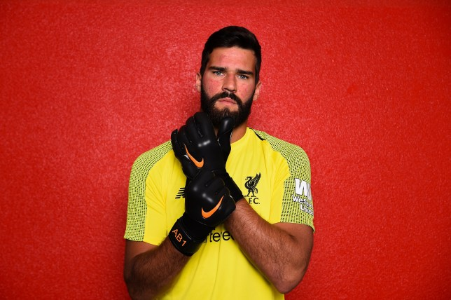 LIVERPOOL, UNITED KINGDOM JULY 19: (THE SUN OUT, THE SUN ON SUNDAY OUT) Alisson after signing a new contract for Liverpool FC at Melwood Training Ground on July 19, 2018 in Liverpool, England. (Photo by Andrew Powell/Liverpool FC via Getty Images)