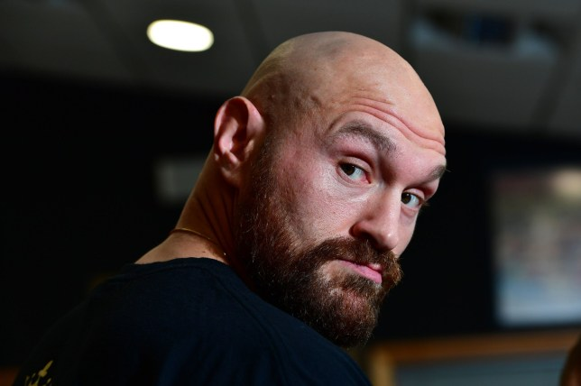Tyson Fury prepares to spar during a workout at Hatton Health and Fitness, Hyde. PRESS ASSOCIATION Photo. Picture date: Tuesday July 31, 2018. Photo credit should read: Anthony Devlin/PA Wire