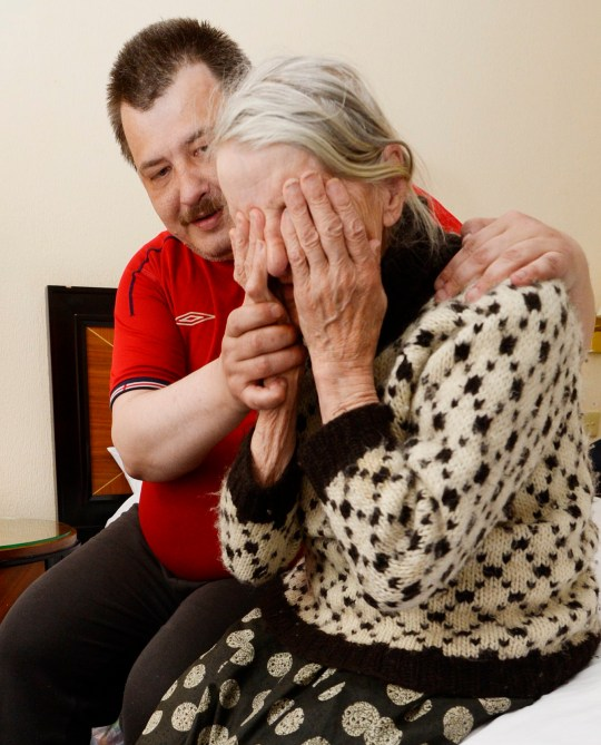 Crying endlessly in a city centre hotel room, a frail 87-year-old woman is comforted by her desperate son after spending a night sleeping rough next to a canal in Birmingham. Lithuanian native Darius Nenius, 45, was booted out of his ?105-per-week flat in Ladywood a little over a fortnight ago after running out of money, leaving him and mum Irena - a World War Two survivor - homeless. The pair managed to salvage a week in shared accommodation in Handsworth but, from Monday, were forced to sleep on the streets in nothing more than blankets.