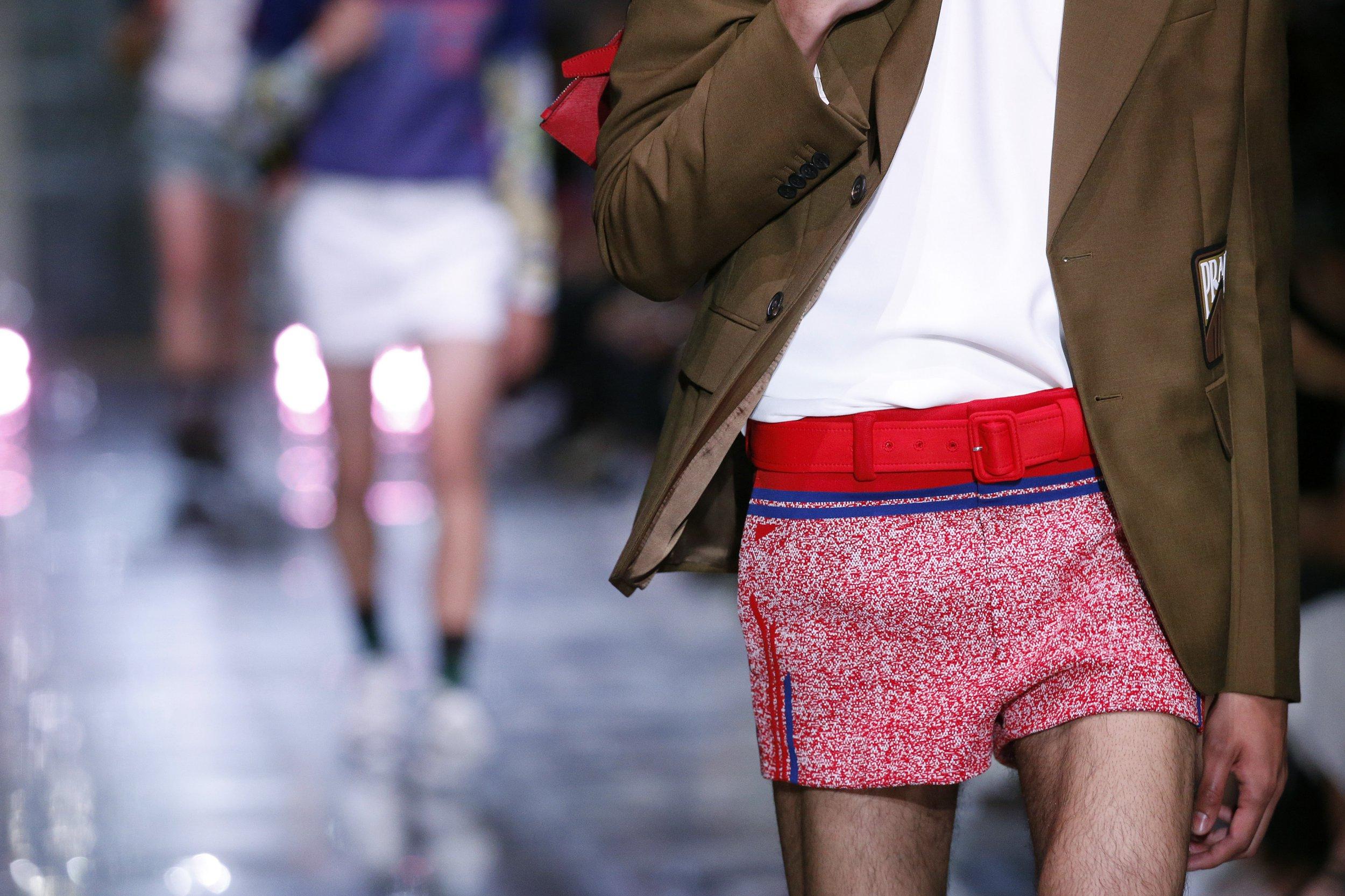 Clothing detail at the Prada show during Milan Men's Fashion Week Spring/Summer 2019 on June 17, 2018 in Milan, Italy.