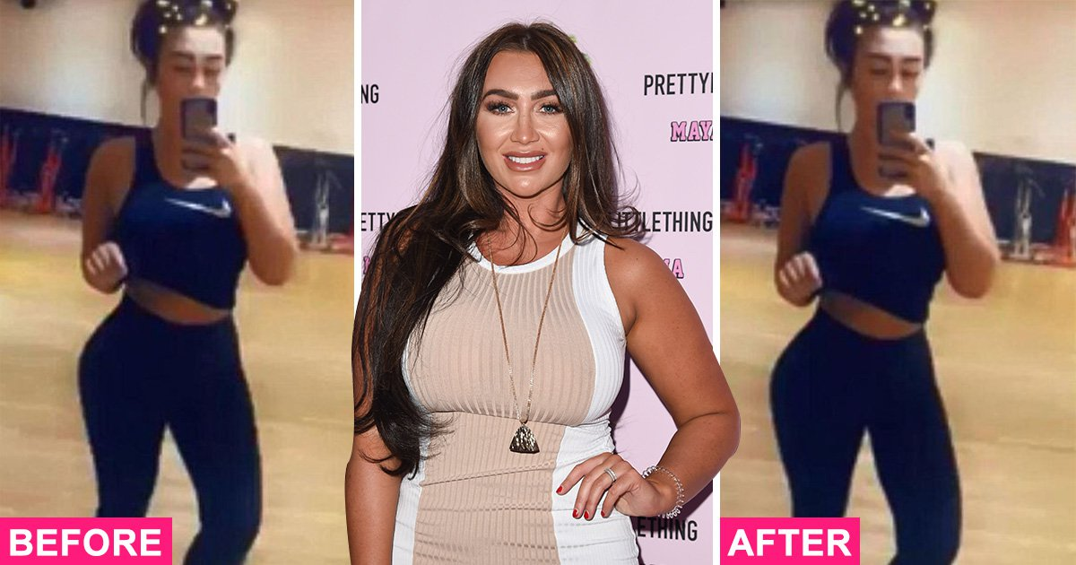 Lauren Goodger accidentally exposes herself for Photoshopping gym selfies