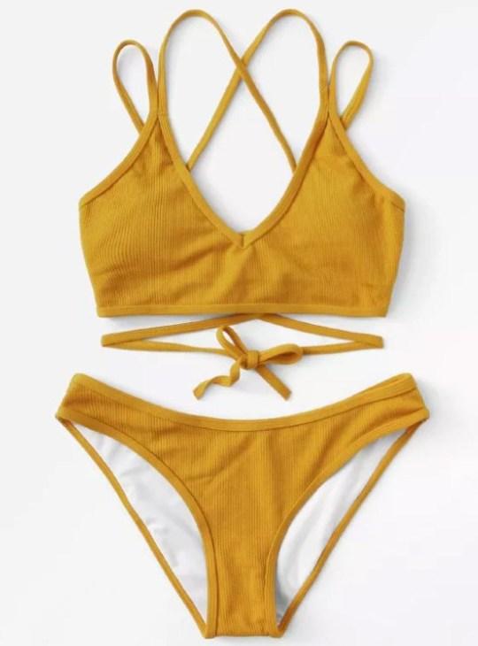 1918378e9f ... criss cross bikini to our wardrobes. Bargain swimsuits METRO GRBA taken  from: https://www.shein.co