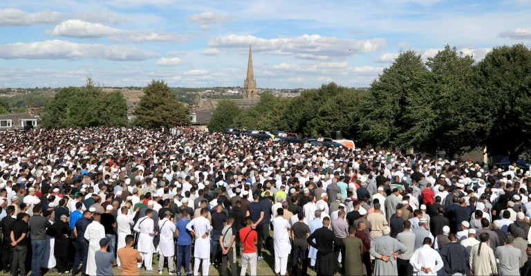 Mourners gather for funerals of four men killed in Bradford