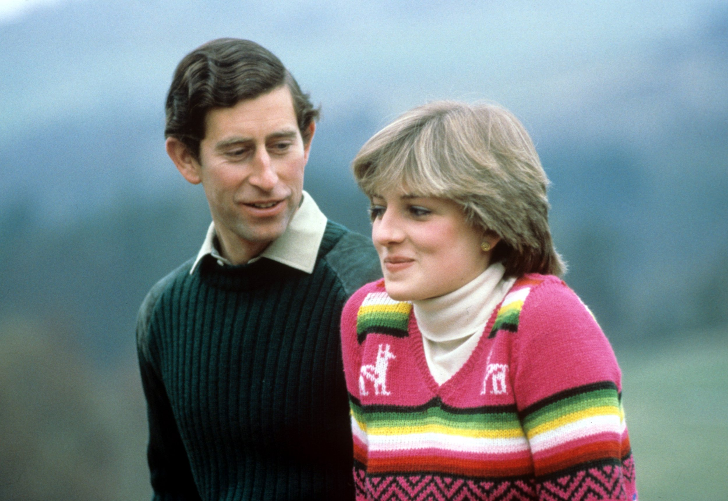Mandatory Credit: Photo by BRYN COLTON/REX/Shutterstock (208960v) PRINCE CHARLES AND LADY DIANA SPENCER IN THE GROUNDS OF BALMORAL CASTLE SCOTLAND ON A PRE HONEYMOON - 1 MAY 1981 British Royals - 1980s