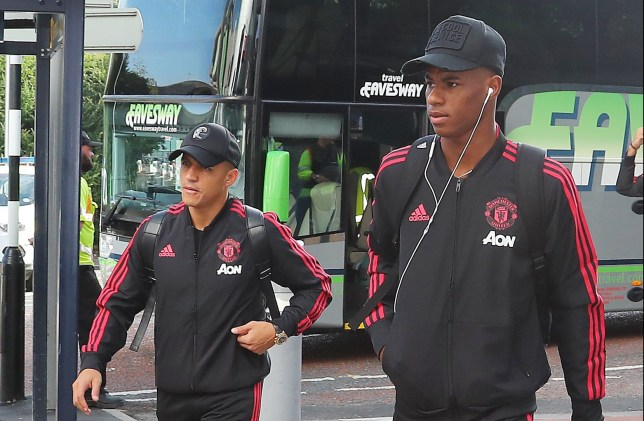 5.8.18???.. The Manchester United team fly to Munich on Sunday morning for their friendly with Bayern Munich in the evening???. Marcus Rashford.