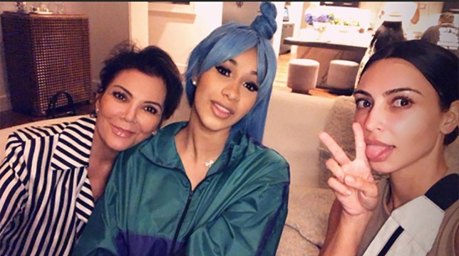 Cardi B visits Kim K and Kris J for girls' night in METRO GRAB taken from: https://www.instagram.com/kimkardashian/ Credit: Kim Kardashian/Instagram