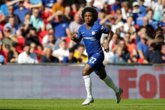 Willian of Chelsea during the FA Community Shield match between Chelsea and Manchester City at Stamford Bridge, London, England on 5 August 2018. Photo by Robin Jones/Digital South.