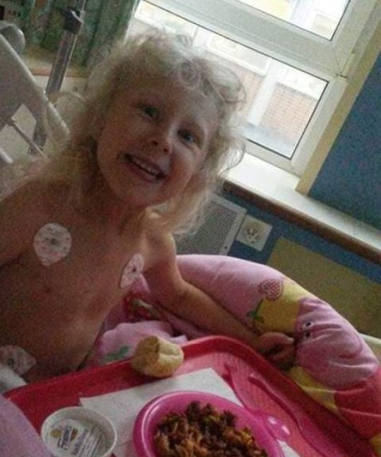 A Lincolnshire mum has described her horror after her young daughter was almost left paralysed after suffering complications when she contracted chickenpox. In February this year, Ruby Hancock, now 6, was struck down with chickenpox ? a common illness in young children that usually passes by without much concern. Caption: Ruby spent three weeks in hospital, with fears she may never walk again