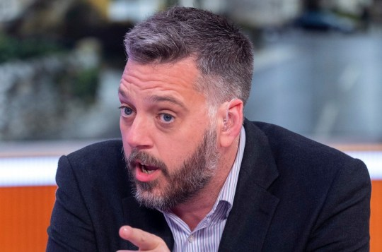 EDITORIAL USE ONLY. NO MERCHANDISING Mandatory Credit: Photo by Ken McKay/ITV/REX/Shutterstock (9785828as) Iain Lee 'Good Morning Britain' TV show, London, UK - 09 Aug 2018
