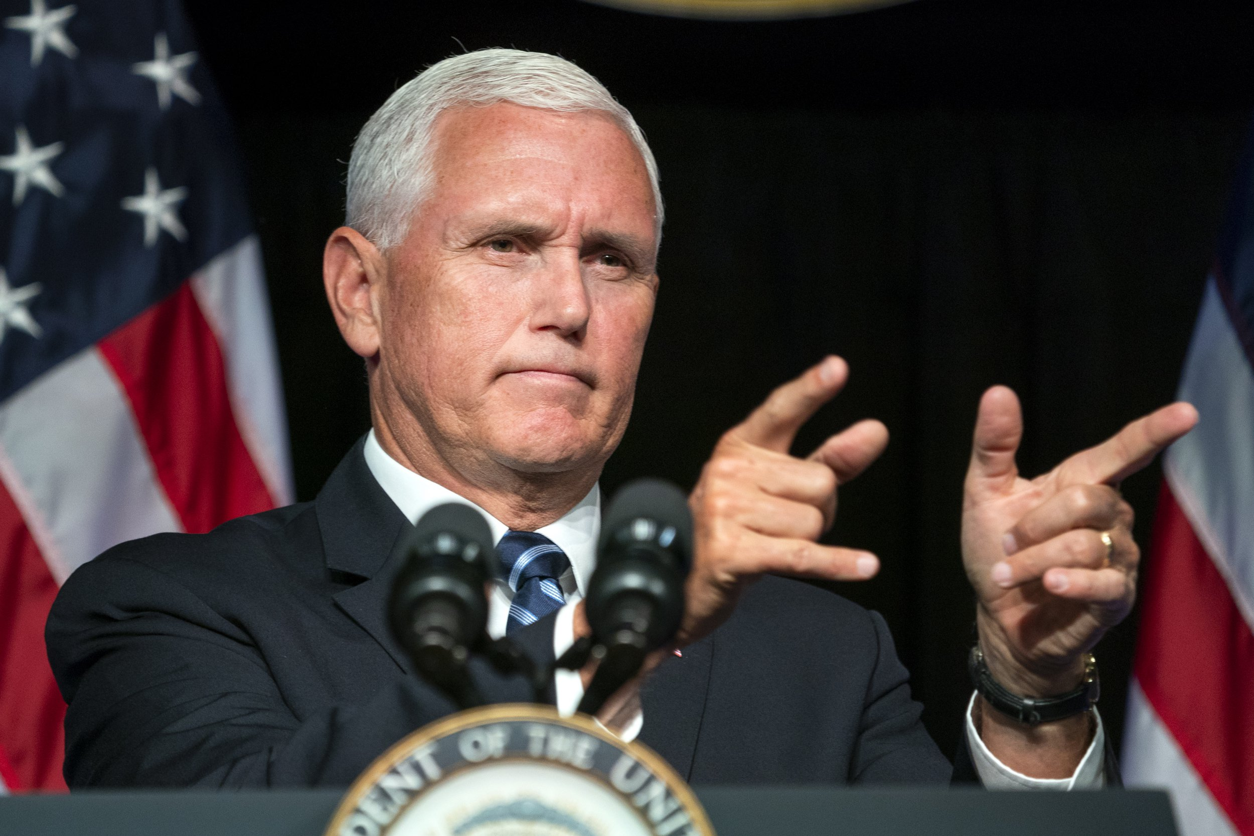What does 'lodestar' mean and how often does Mike Pence say it?