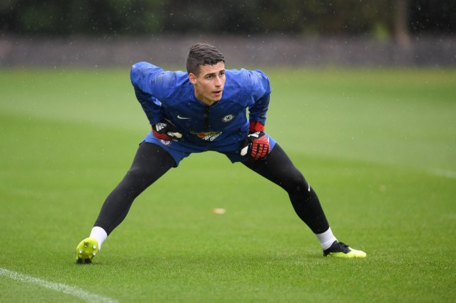 COBHAM, ENGLAND - AUGUST 09: Kepa Arrizabalaga of Chelsea during a training session at Chelsea Training Ground on August 9, 2018 in Cobham, England. (Photo by Darren Walsh/Chelsea FC via Getty Images)