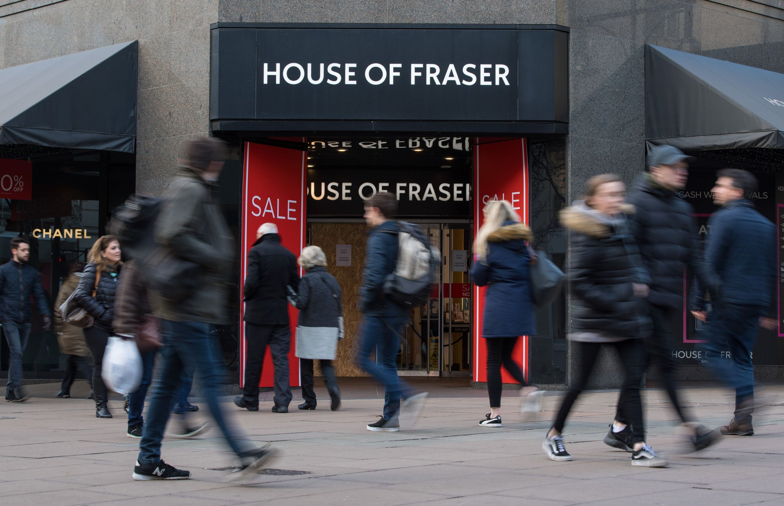 File photo dated 07/01/18 of the Oxford Street, London, branch of the department store chain House of Fraser, which has said that it is set to fall into administration later today. PRESS ASSOCIATION Photo. Issue date: Friday August 10, 2018. See PA story CITY HouseofFraser. Photo credit should read: Dominic Lipinski/PA Wire