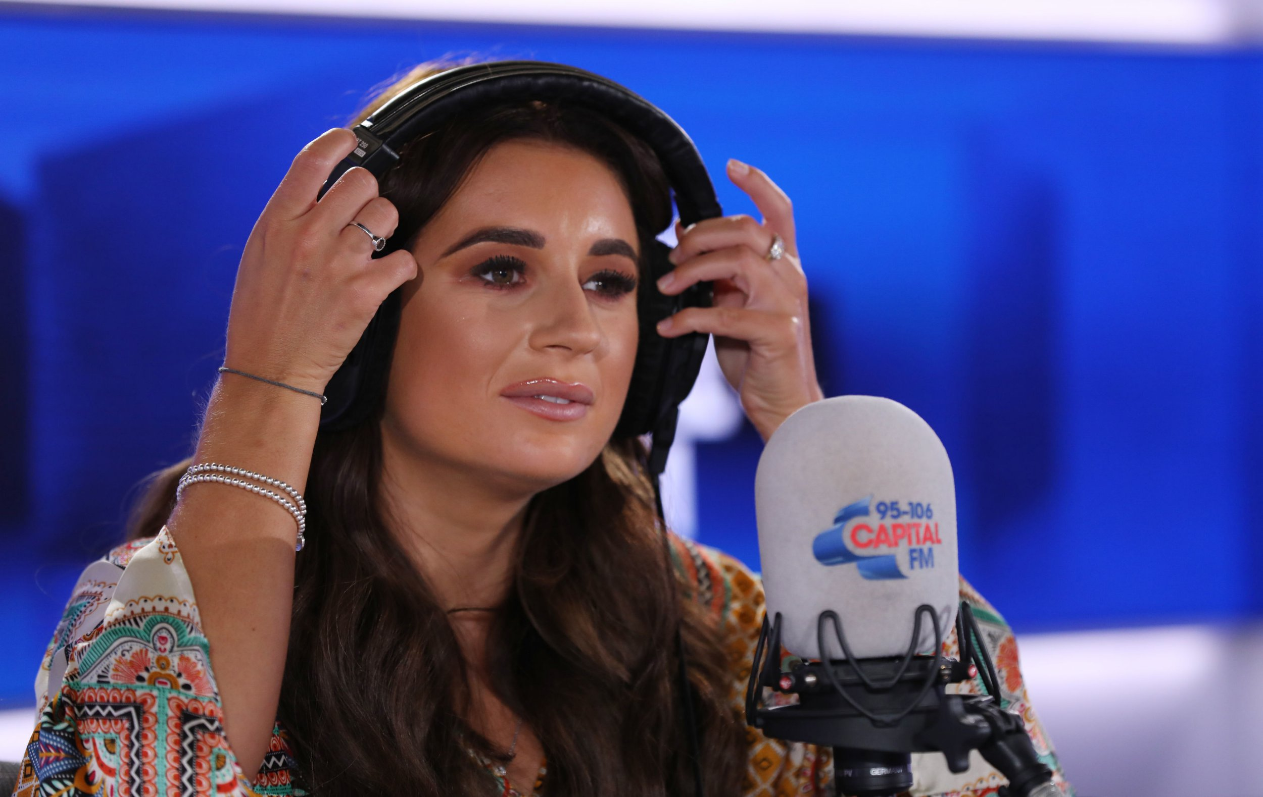 Love Island 2018 winner Dani Dyer co-hosting Capital Breakfast with Roman Kemp at Capital Radio in London. After proving a huge hit with Capital listeners when she joined Roman in the Capital studio as a guest on Tuesday, Dani returned this morning to co-host London?s no.1 commercial breakfast show. PRESS ASSOCIATION Photo. Picture date: Friday August 10, 2018. Photo credit should read: Isabel Infantes/PA Wire
