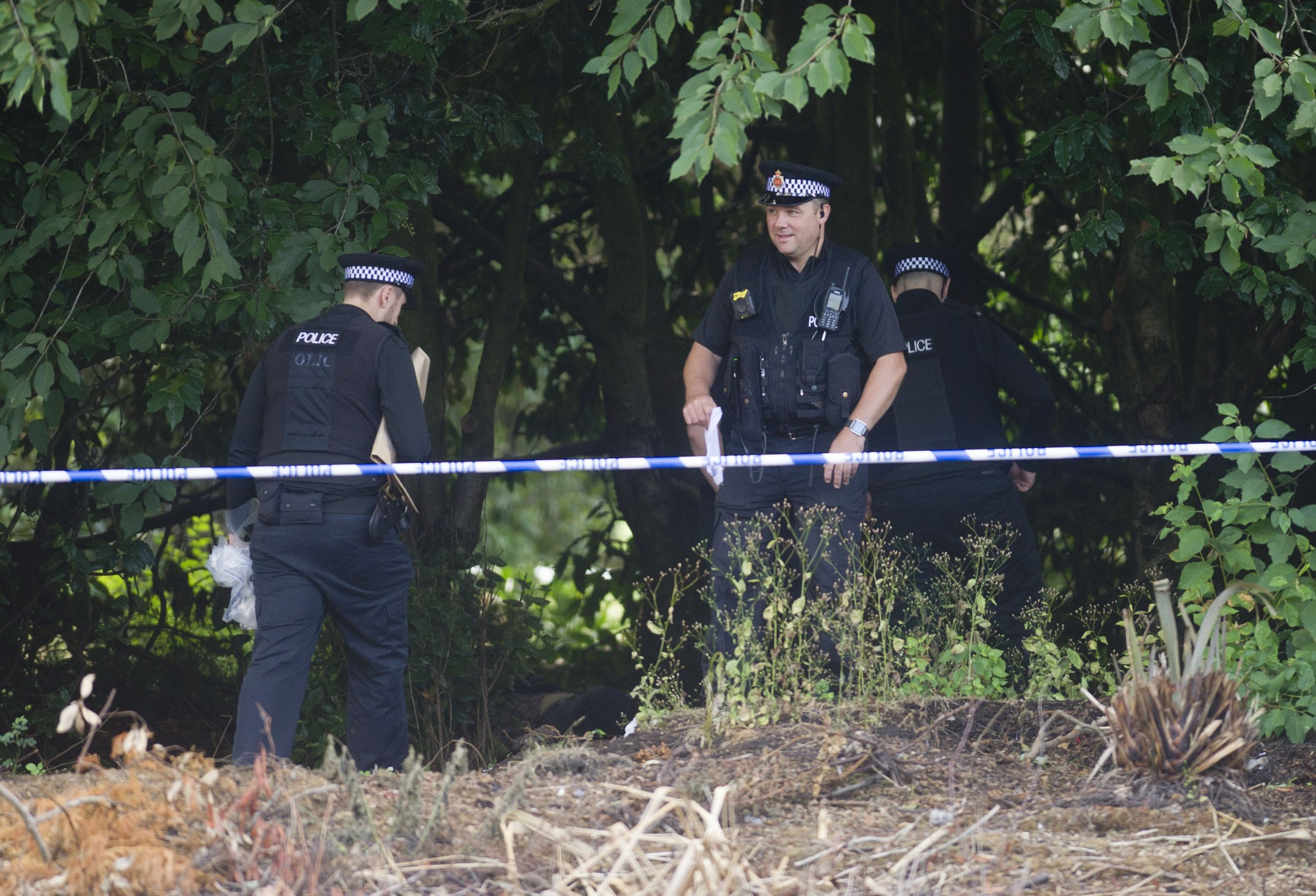 Police scene in Davyhulme park urmston Vincent Cole 31 July 2018