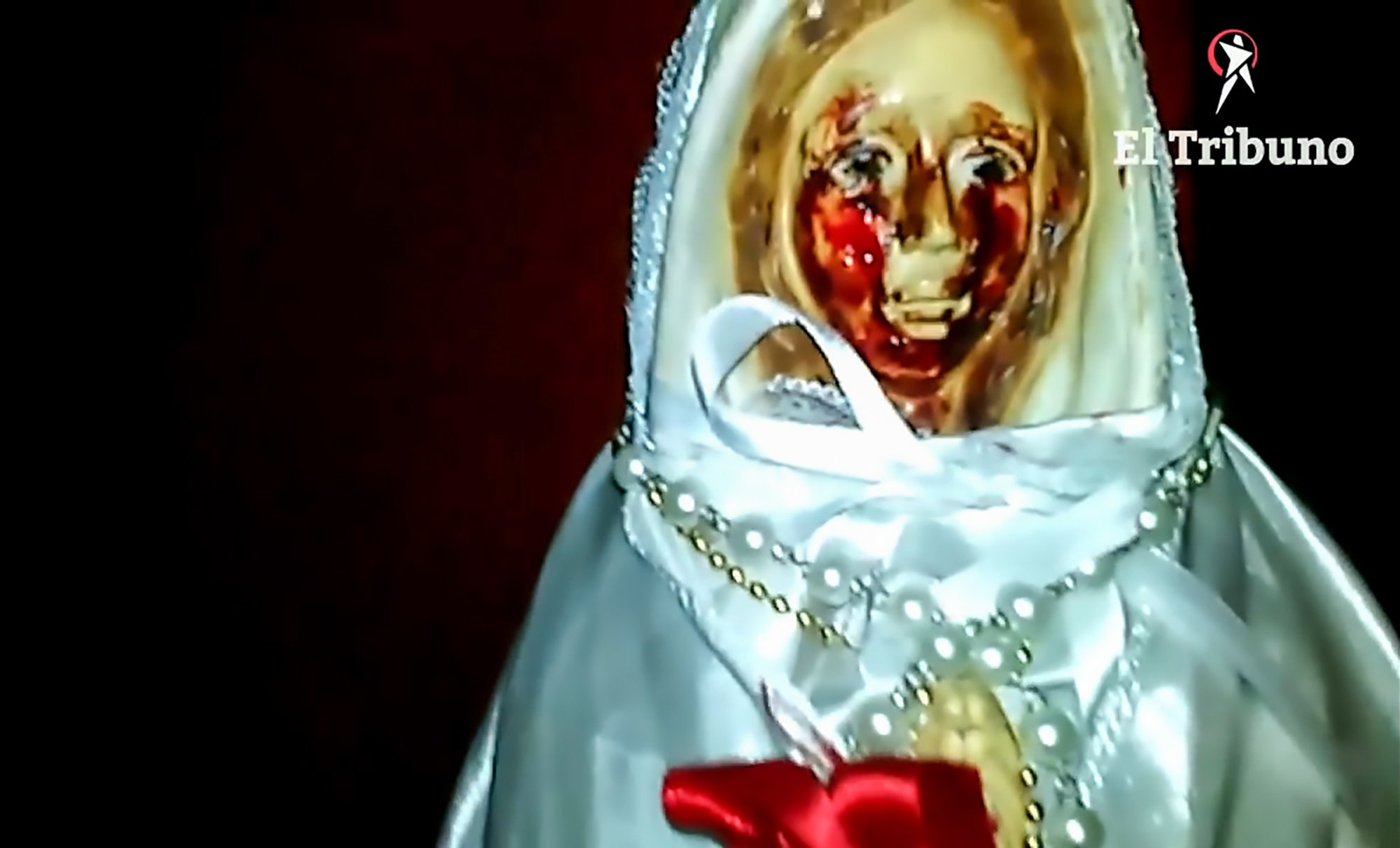 Virgin Mary statue filmed 'crying tears of blood' in Argentina