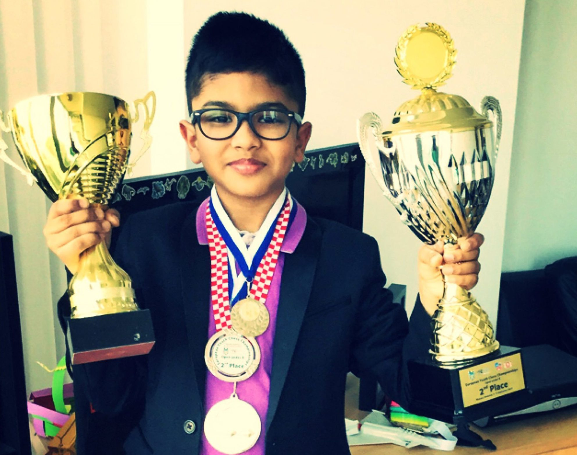 "Undated family handout photo of Shreyas Royal, a nine-year-old chess prodigy from India, as his family have been allowed to stay in the UK due to his ""world class talent"". PRESS ASSOCIATION Photo. Issue date: Friday August 10, 2018. Shreyas Royal and his parents were told they would have to leave when their visa expires next month. See PA story POLITICS Chess. Photo credit should read: Family handout/PA Wire NOTE TO EDITORS: This handout photo may only be used in for editorial reporting purposes for the contemporaneous illustration of events, things or the people in the image or facts mentioned in the caption. Reuse of the picture may require further permission from the copyright holder."