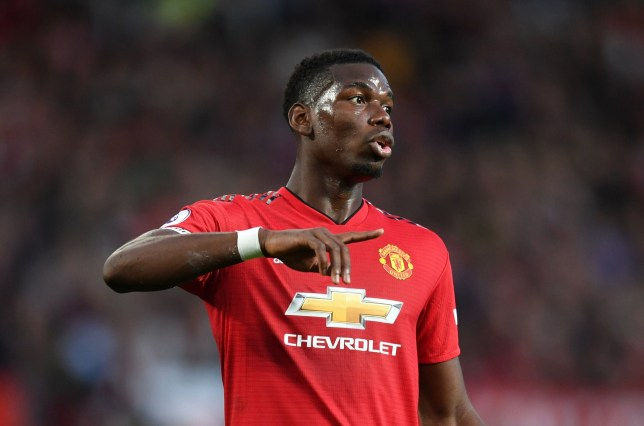 MANCHESTER, ENGLAND - AUGUST 10: Paul Pogba of Manchester United reacts during the Premier League match between Manchester United and Leicester City at Old Trafford on August 10, 2018 in Manchester, United Kingdom. (Photo by Michael Regan/Getty Images)