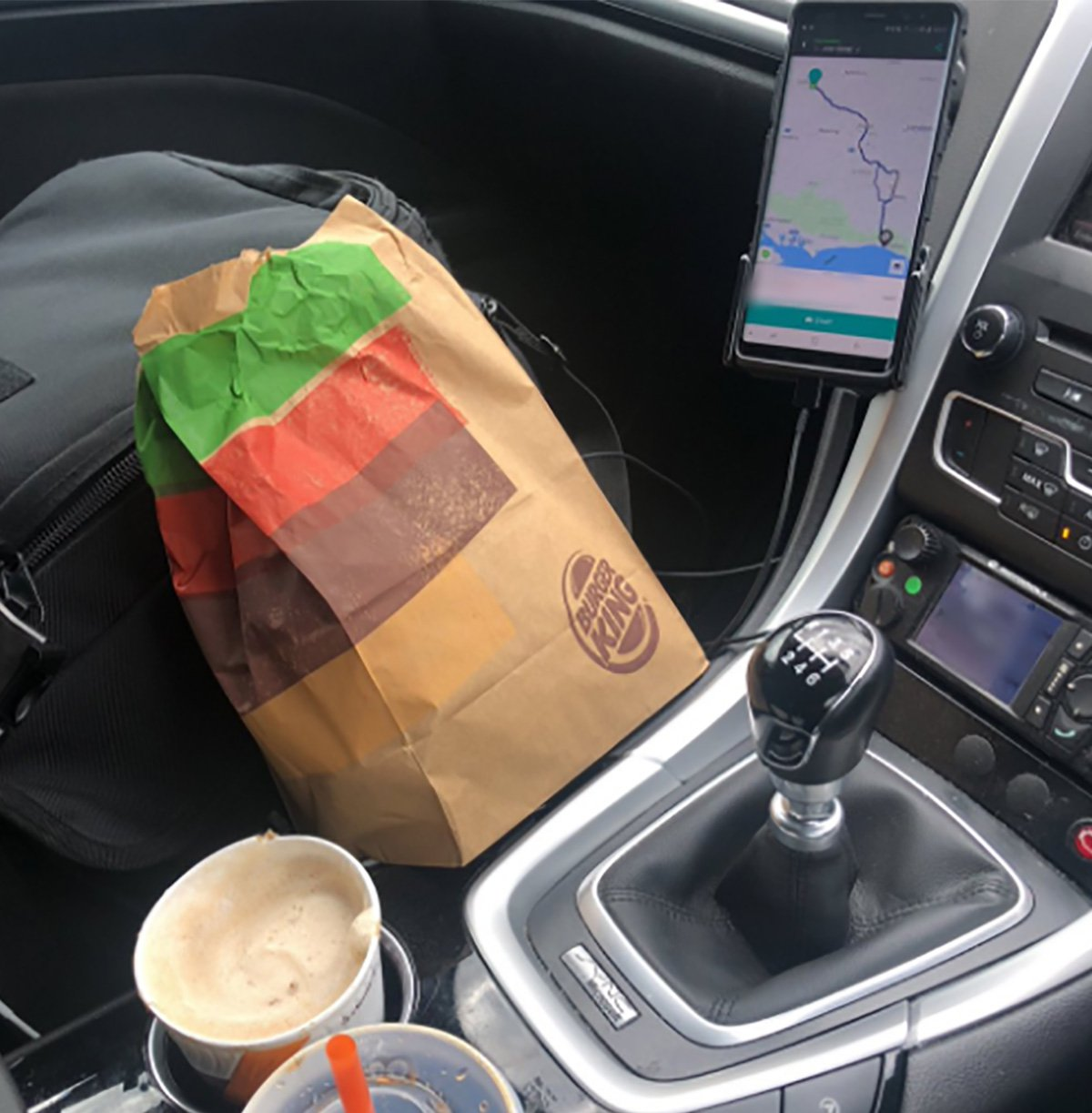 Cop shames woman criticised him for having a Burger King during tough shift