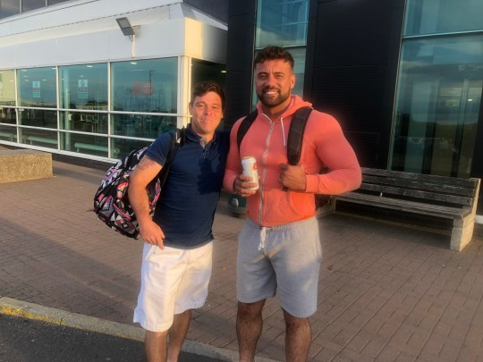 A man from Wales went for a pint after work - only to end up in MAGALUF just hours later. Alun Griffiths, 27, from Gurnos in Merthyr Tydfil, went to a club with friends on his way home from work but didn't end up getting home for another two days. Caption: Alun Griffiths (right), from Gurnos in Merthyr Tydfil, south Wales, pictured with friend Nigel Lewis (left)
