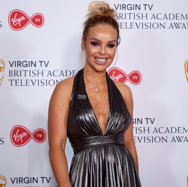 LONDON, ENGLAND - MAY 13: Katie Piper poses in the press room at the Virgin TV British Academy Television Awards at The Royal Festival Hall on May 13, 2018 in London, England. (Photo by Jeff Spicer/Getty Images)
