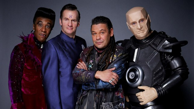 Danny John-Jules as Cat, left, in Red Dwarf (Picture: UK TV)