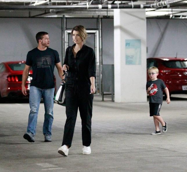 Chris Pratt and son joined by Katherine Schwarzenegger on cinema
