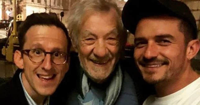 METRO GRAB VIA INSTAGRAM Orlando Bloom posts on Twitter a Lord of The Rings mini-reunion in London with Ian McKellan (centre) and Adam Brown (left) https://www.instagram.com/p/Bmb6lmkhCl5/?utm_source=ig_share_sheet&igshid=y34v8adcuer4