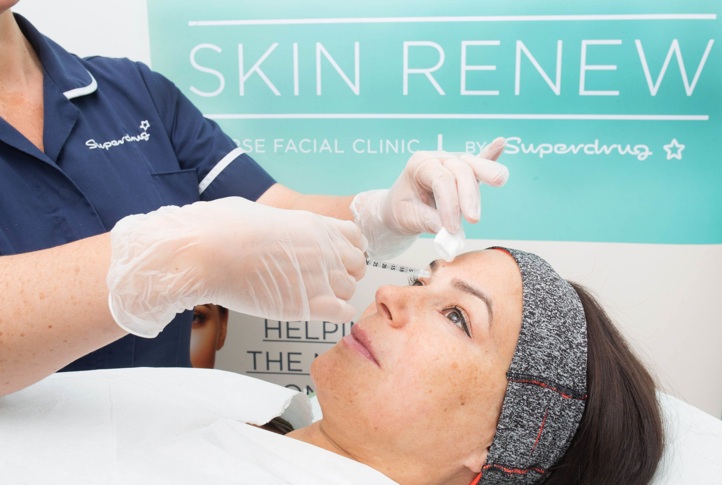 EDITORIAL USE ONLY Lisa from London receives a treatment following a consultation with Superdrug nurse Rosie, as the high street retailer launches its Skin Renew Service, which will include anti-wrinkle and skin rejuvenation aesthetic treatments such as BOTOX and Juvederm dermal fillers. The service, which will be available to customers aged 25 and over, will start atʣ99.