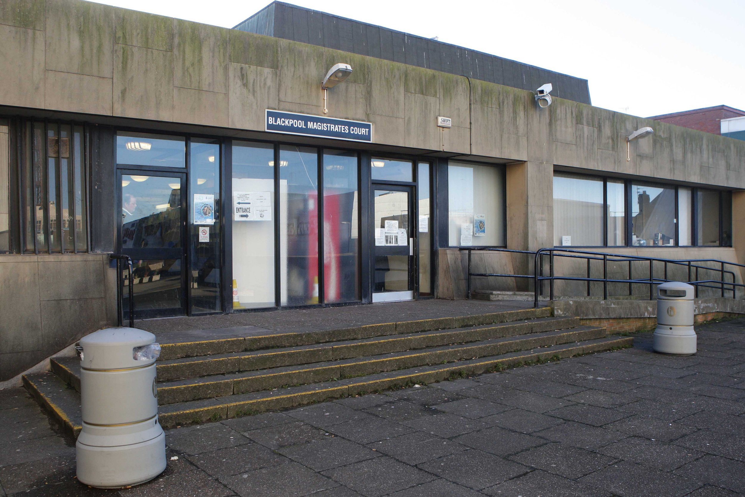 A general view of Blackpool Magistrates Court.
