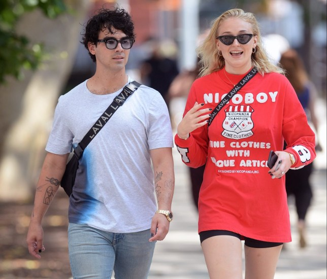 Joe Jonas takes his girlfriend out shopping on his birthday in New York City Pictured: Joe Jonas,Sophie Turner Ref: SPL5016312 150818 NON-EXCLUSIVE Picture by: Elder Ordonez / SplashNews.com Splash News and Pictures Los Angeles: 310-821-2666 New York: 212-619-2666 London: 0207 644 7656 Milan: +39 02 4399 8577 Sydney: +61 02 9240 7700 photodesk@splashnews.com World Rights, No Portugal Rights