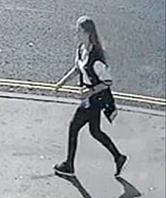 Handout still from CCTV footage issued by Hampshire Constabulary of Lucy McHugh walking past a convenience store in Wimpson Lane at 9.06am on Wednesday July 25 shortly before disappearing. PRESS ASSOCIATION Photo. Issue date: Thursday August 16, 2018. Detectives investigating the murder of schoolgirl Lucy McHugh have released new CCTV images of her last known movements. The body of the 13-year-old was found in woodland at Southampton Sports Centre on July 26. She had been stabbed to death. See PA story POLICE Southampton. Photo credit should read: Hampshire Constabulary/PA Wire NOTE TO EDITORS: This handout photo may only be used in for editorial reporting purposes for the contemporaneous illustration of events, things or the people in the image or facts mentioned in the caption. Reuse of the picture may require further permission from the copyright holder.