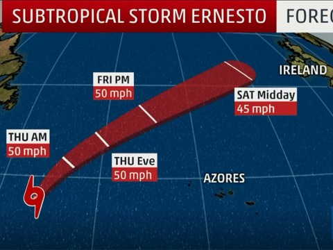 Storm Ernesto is heading our way with torrential rain this weekend