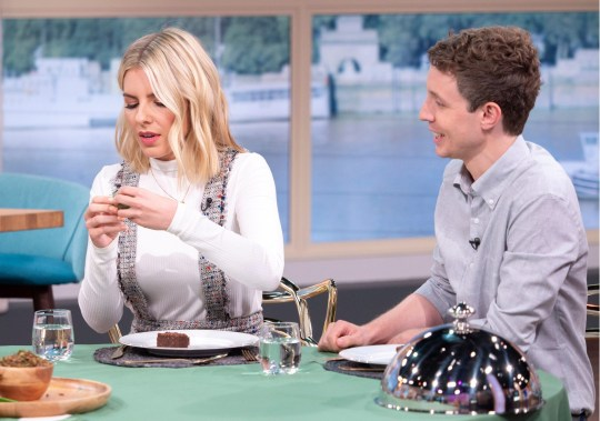 EDITORIAL USE ONLY. NO MERCHANDISING Mandatory Credit: Photo by S Meddle/ITV/REX/Shutterstock (9792799co) Matt Edmondson and Mollie King 'This Morning' TV show, London, UK - 17 Aug 2018