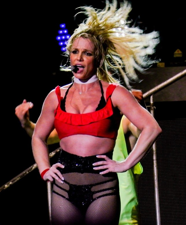 BGUK_1313831 - Scarborough, UNITED KINGDOM - Britney Spears opened her UK tour in Scarborough in the pouring rain as fans watched her multiple costume changes as she pole danced and even got an audience member to crawl across the stage like a dog, whilst she walked him in the 2 hour raunchy show! Pictured: Britney Spears BACKGRID UK 17 AUGUST 2018 BYLINE MUST READ: James Watkins / BACKGRID UK: +44 208 344 2007 / uksales@backgrid.com USA: +1 310 798 9111 / usasales@backgrid.com *UK Clients - Pictures Containing Children Please Pixelate Face Prior To Publication*