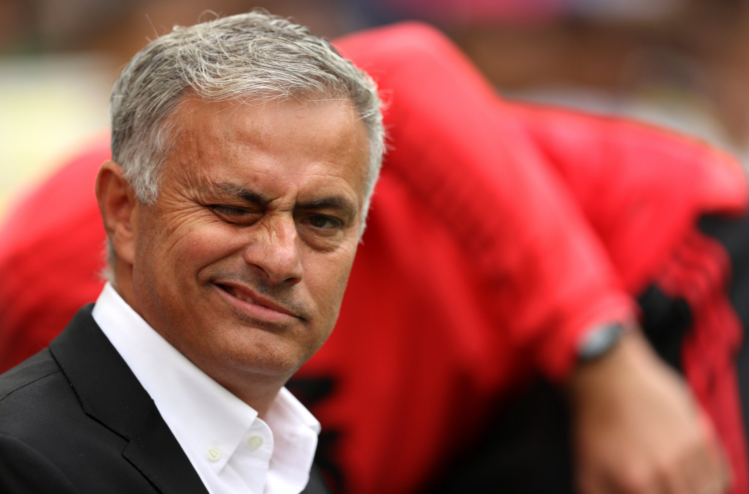BRIGHTON, ENGLAND - AUGUST 19: Jose Mourinho, Manager of Manchester United looks on during the Premier League match between Brighton & Hove Albion and Manchester United at American Express Community Stadium on August 19, 2018 in Brighton, United Kingdom. (Photo by Dan Istitene/Getty Images)