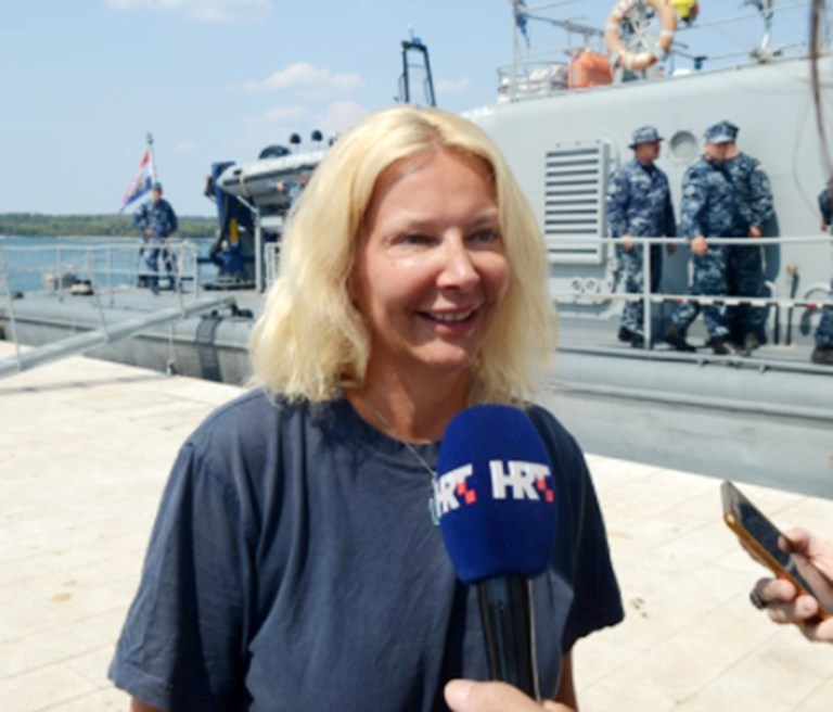 A British woman has been saved in the Adriatic Sea after falling of a cruising ship. The woman, who has not been named, is said to have fallen into the sea from the cruise ship Norwegian Star while on route from the port of Vargarola near Pula, Croatia, in the northern Adriatic towards the south. Speaking after her miraculous rescue the blonde British woman, 46, said: 'I fell of the back of the Norwegian Star, and was in the water for ten hours. Then these wonderful guys rescued me.' The incident happened around midnight between Saturday and Sunday, some 60 miles south from Pula.