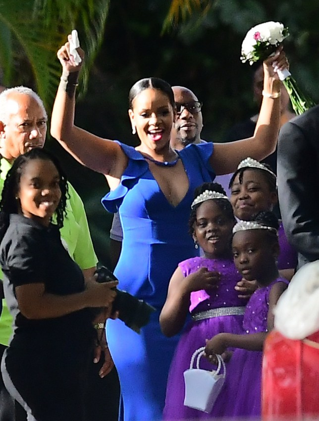 EXCLUSIVE: Rihanna stuns at her best friend's wedding in Barbados. Just 24 hours earlier, the singer flew home to Barbados to attend the wedding of her best friend Sonita Alexander, who she s known since they were both 11-years-old. 18 Aug 2018 Pictured: Rihanna. Photo credit: 246paps/MEGA TheMegaAgency.com +1 888 505 6342