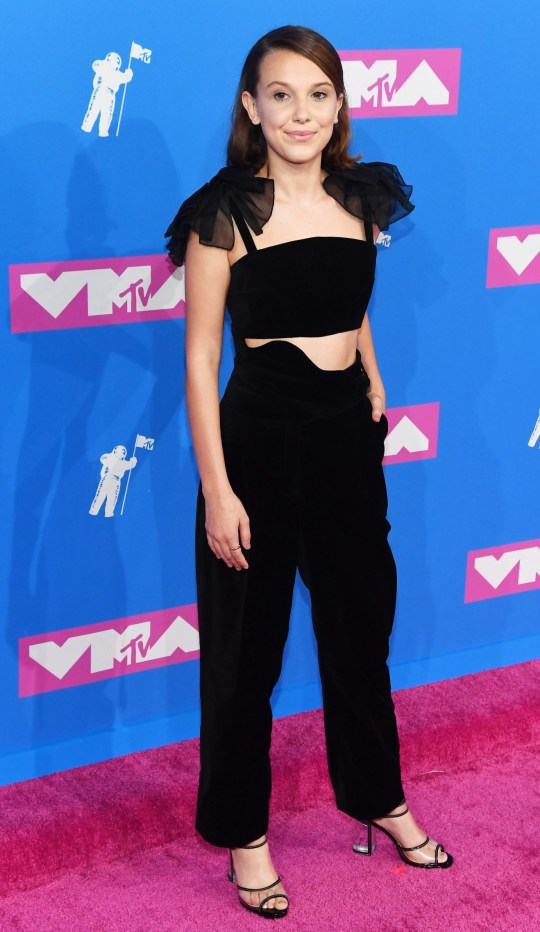NEW YORK, NY - AUGUST 20: Millie Bobby Brown attends the 2018 MTV Video Music Awards at Radio City Music Hall on August 20, 2018 in New York City. (Photo by Nicholas Hunt/Getty Images for MTV)