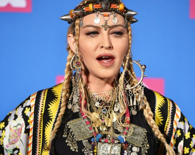Mandatory Credit: Photo by REX/Shutterstock (9795341ap) Madonna MTV Video Music Awards, Press Room, New York, USA - 20 Aug 2018