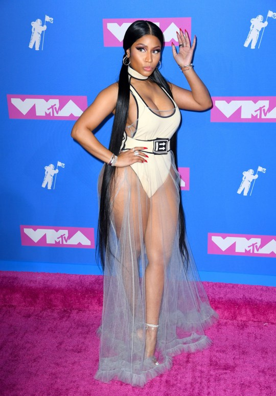 nicki minaj reveals waist-length