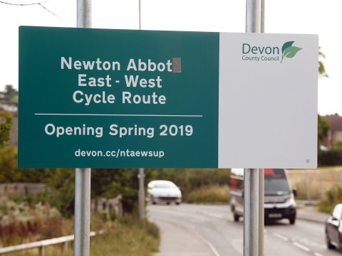 Bungling council workers misspell town's name on new cycle lane sign