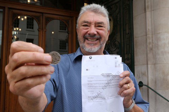 """Don Quinn, 69 was threatened with bailiffs over a 10p debt. See Masons copy MNTEN: A businessman was threatened with bailiffs over a 10p debt he never owed after a council-owned company billed him due to an 'admin error'. Don Quinn, 69, was shocked to receive the """"final reminder"""" for the minuscule amount, warning he could be visited by debt collectors if he didn't pay up within 10 days. Colchester Amphora Trading Ltd also cautioned that he could be taken to court if the """"debt"""" wasn't settled."""