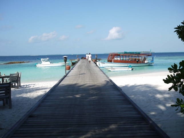 Mandatory Credit: Photo by Richard Young/REX/Shutterstock (1234201du) Beach and jetty Soneva Fushi resort by Six Senses celebrates its 15th anniversary, The Maldives - 15 Oct 2010