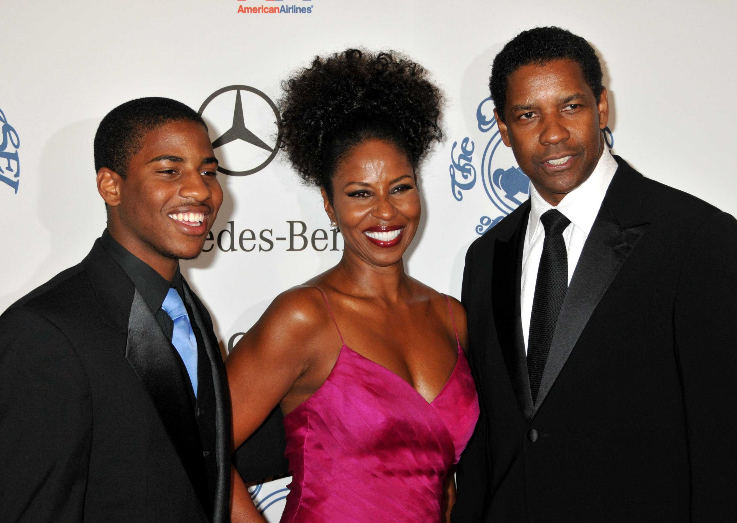 Mandatory Credit: Photo by Sipa Press/REX/Shutterstock (813061f) Denzel Washington, wife Pauletta and son Malcolm 30th Carousel of Hope Ball, Benefiting the Barbara Davis Center for Childhood Diabetes, Los Angeles, America - 25 Oct 2008