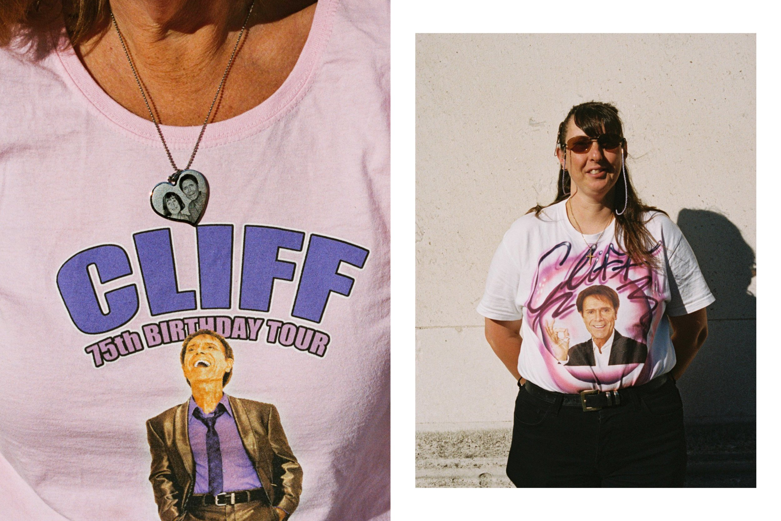 Robin Mellor photographs Cliff Richard's colourful fanbase outside his Fabulous Rock n Roll concert in Greenwich, South East London