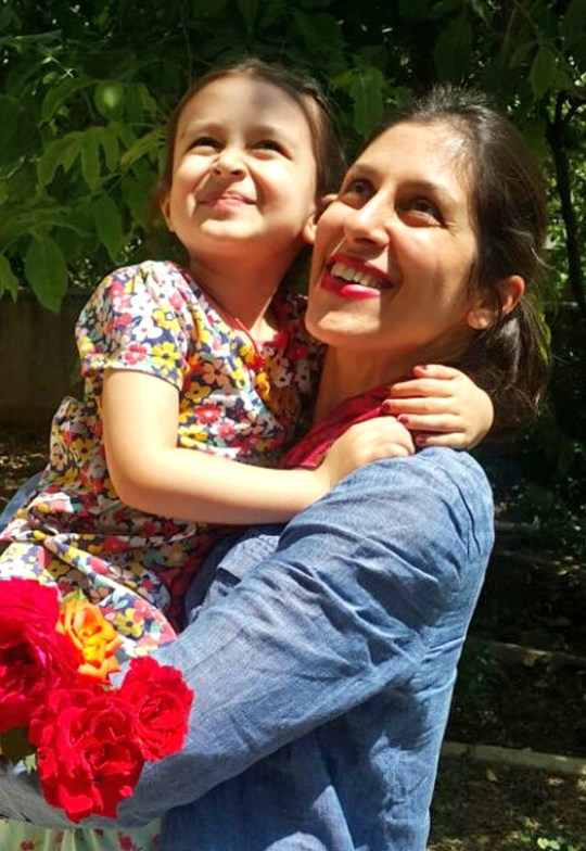 Handout photo of Nazanin Zaghari-Ratcliffe with her daughter Gabriella, after the charity worker was been given temporary release from prison in Iran for three days. PRESS ASSOCIATION Photo. Picture date: Thursday August 23, 2018. Nazanin travelled to Damavand from Evin with her father and brother to rejoin the family holiday, and see Gabriella, her grandmother and the wider family. See PA story POLITICS Iran. Photo credit should read: The Free Nazanin campaign/PA Wire NOTE TO EDITORS: This handout photo may only be used in for editorial reporting purposes for the contemporaneous illustration of events, things or the people in the image or facts mentioned in the caption. Reuse of the picture may require further permission from the copyright holder.