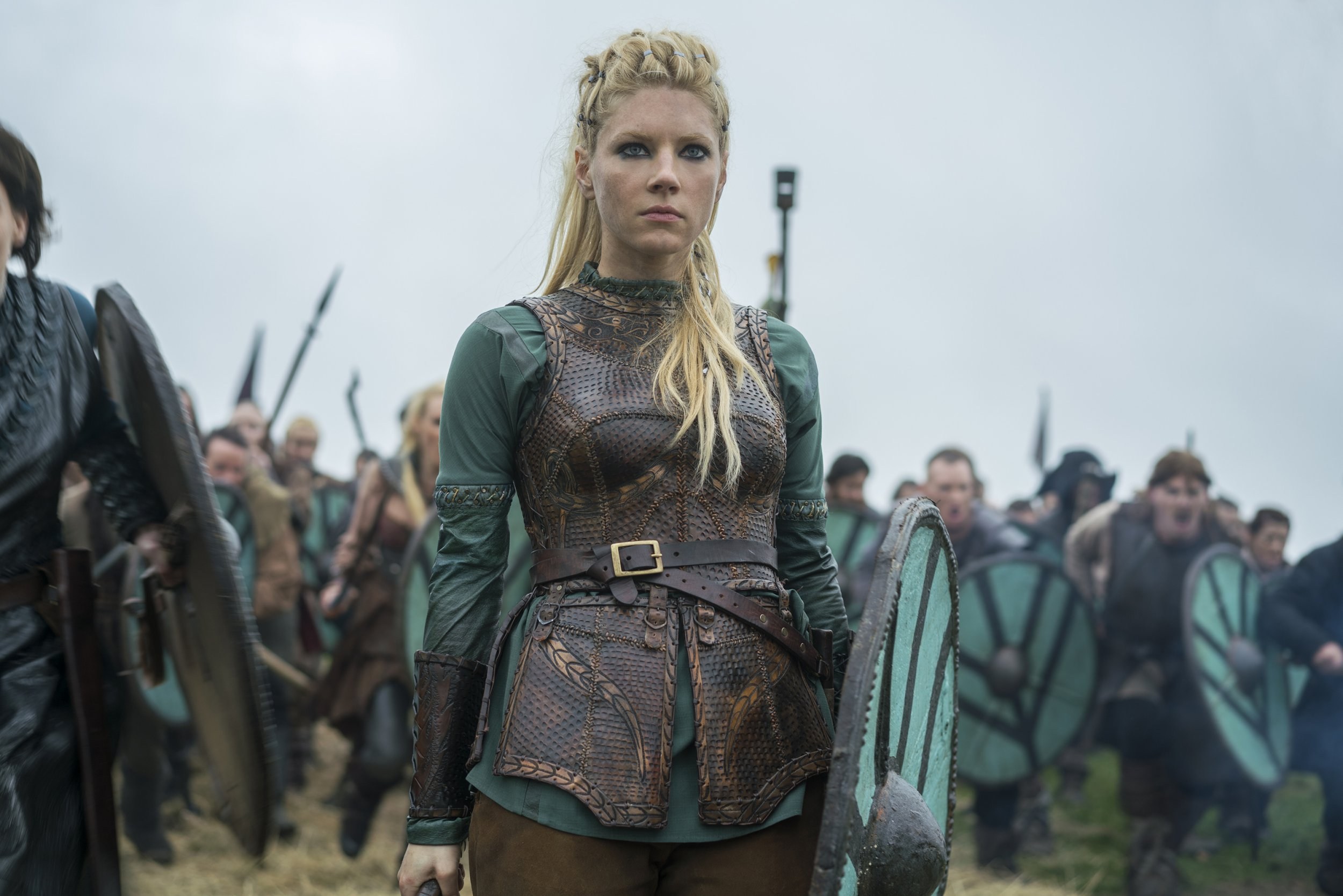 Katheryn Winnick pokes fun at herself watching her Vikings character on TV as she says she wants 'as many seasons as possible'